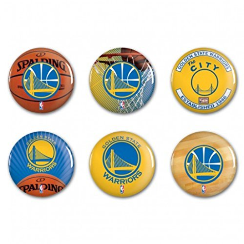 Golden State Warriors Chapas oficiales de la NBA, 6 unidades