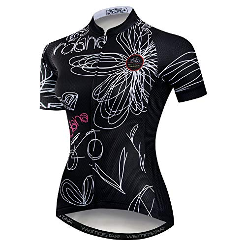Ciclismo Jersey Donne Mountain Bike Camicie Manica Corta Strada Bicicletta Cothing MTB Top, Donna, 35, L for Chest34-36.2',Max Waist37.8'