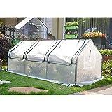 LDIW Gewächshaus, Treibhaus Gartenhaus Schützt Pflanzen vor Kälte, Regen, Hagel, Wind und Frost,Weiß,270x88x90cm