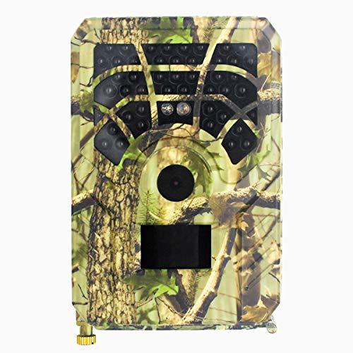 Fotocamera da caccia, fotocamera con grandangolo di 120°, impermeabile, visione notturna a infrarossi, sensore di movimento, visione notturna, trasmissione del telefono cellulare.