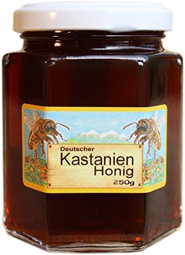 Deutscher Kastanien-Honig - 250g Feinkost Kastanien Honig flüssig - Herkunft garantiert aus Deutschland
