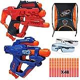 Pistola de juguete Blaster para niños compatible con pistolas Nerf balas, pistola de juguete de espuma con 4 piezas de repuesto de dardos de espuma suave para niños..
