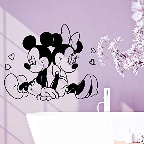BailongXiao Lindo ratón de vinilo mural de pared artista de la decoración del hogar bebé niña habitación art deco papel pintado 58cm X 70cm