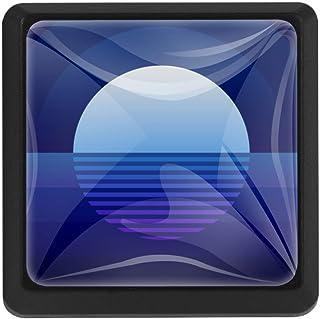 Blue Moon Rays Moonlight - Pomos cuadrados de cristal para puerta de armario (3 unidades 37 x 25 x 17 mm)