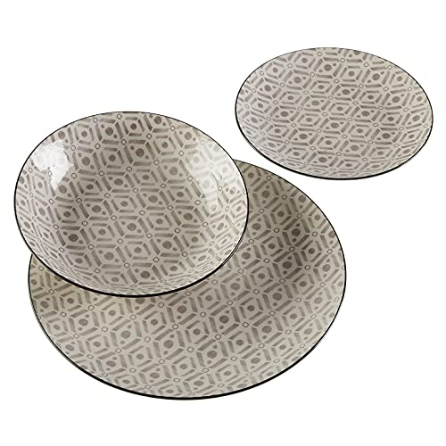 Versa, vajilla 18 piezas hannah, linea servicio de mesa, vajillas, VS-22120027