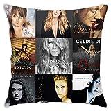 N \ B Celine Dion Funda de almohada de personalidad, funda de cojín cuadrada para sofá, decoración del hogar, 45,7 x 45,7 cm