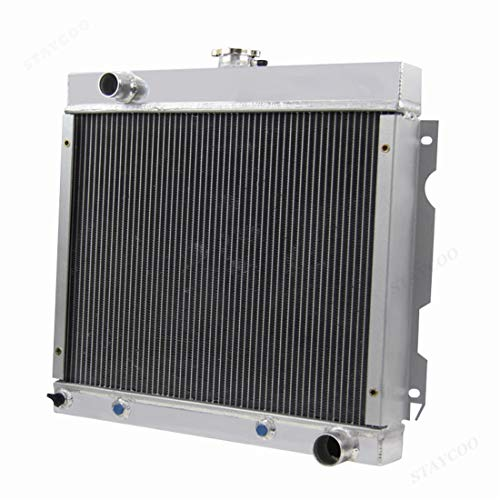 CoolingSky 62MM 4 Row Core Aluminum Radiator 1970-1972 Dodge Dart丨1971-72 Plymouth Duster Valiant (fits: 5.2 5.6 V8)