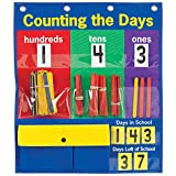 """Really Good Stuff Counting The Days Pocket Chart – 15¾"""" by 18¾"""" – Develop Counting, Basic Math Skills – Count The Number of Days in School – Grommets, Magnetic Strip for Easy Hanging"""