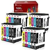 Toner Kingdom 18XL Cartuchos de Tinta Reemplazo para Epson 18 18 XL Compatible con Epson Expression Home XP-205 XP-215 XP-225 XP-305 XP-322 XP-325 XP-405 XP-415 XP-422 XP-425 XP-315 (Paquete de 20)