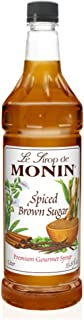 Monin - Spiced Brown Sugar Syrup, Sweet With Hints of Cinnamon, Natural Flavors, Great for Coffee, Desserts, Ciders, and Cocktails, Vegan, Non-GMO, Gluten-Free (1 Liter)