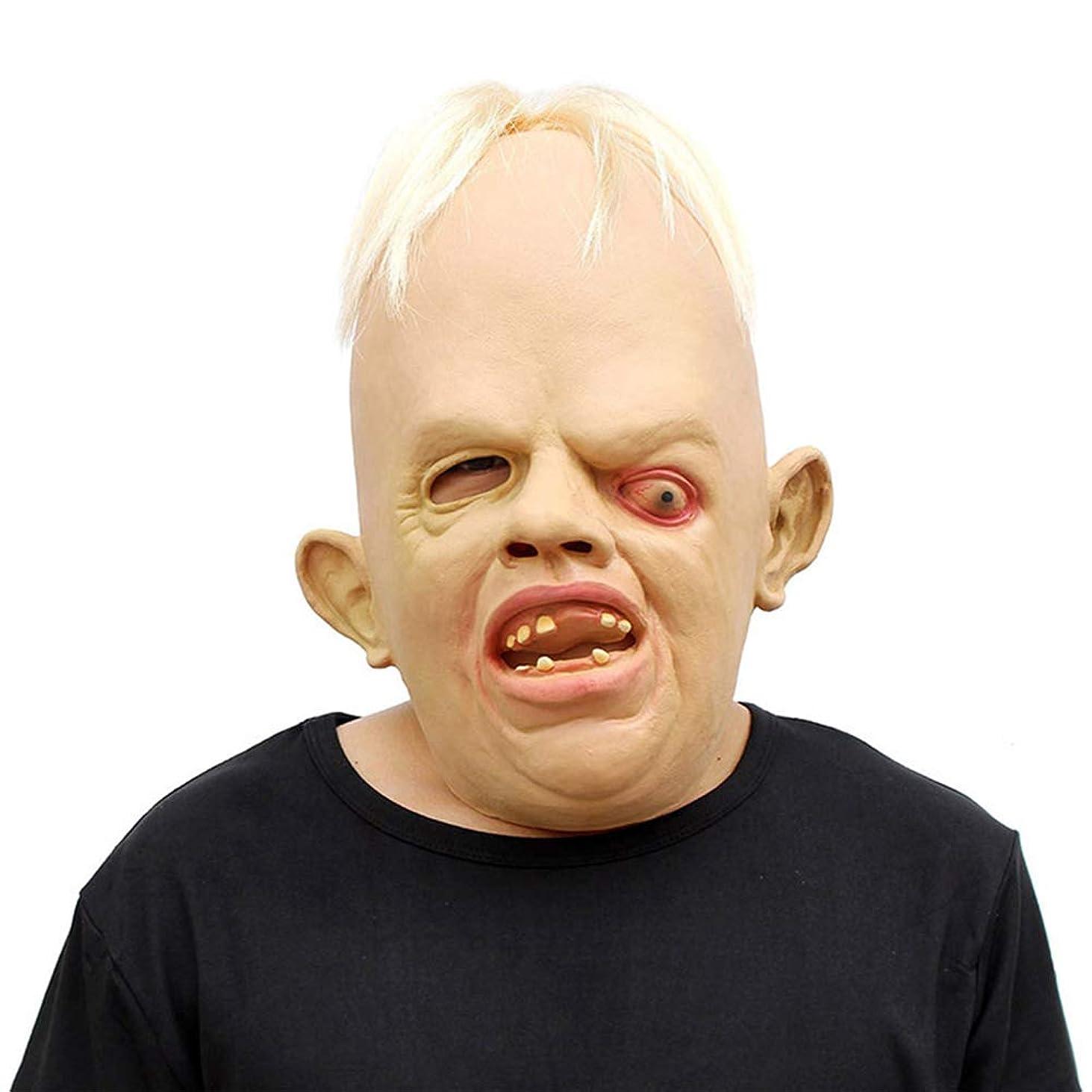 うっかり保証する受け入れハロウィンホラーマスク、目を細めるアイシェイプマスク、クリエイティブ面白いヘッドマスク、ラテックス Vizard マスク、コスチュームプロップトカゲマスク
