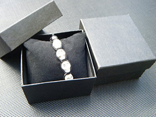 5 x Schwarz qualität schmuck uhrarmband ring kette geschenkboxen luxuriös gepolstert einsatz 8.5cm x 8cm x 5cm Geschrieben von London von Fett-catz