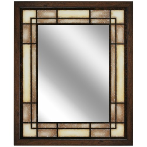Head West Tea Glass Rectangle Mirror, 25-Inch by -