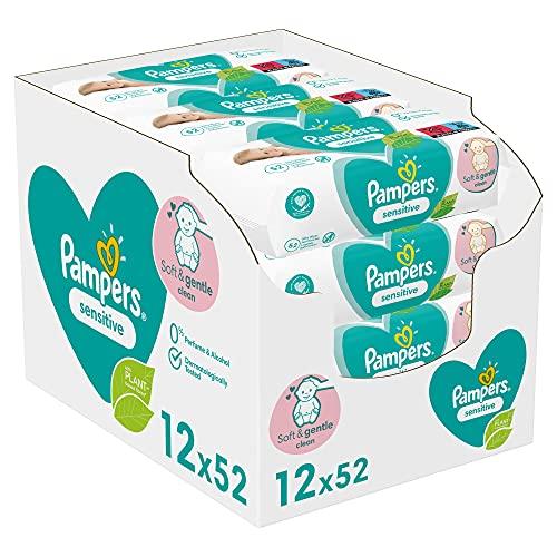 Pampers 81687211 - Sensitive toallitas húmedas para bebé, unisex