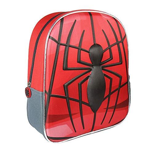 Cerdá 3d Spiderman Zainetto per bambini, 31 cm, Rosso (rojo)