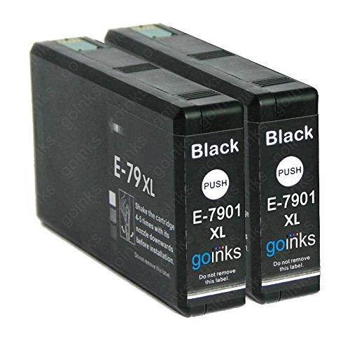 2 Go Ink Cartucce di inchiostro nero per sostituire Epson T7901 (serie 79XL) compatibili/non OEM per stampanti Epson Workforce Pro