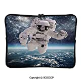 YOLIYANA Laptop Bag Outer Space Theme Astronaut in Milkyway Print Galaxy Stardust Earth Laptop Sleeve Bag Water-Resistant Protective Case Bag Compatible with Any Notebook 11.6 inch/12 inch