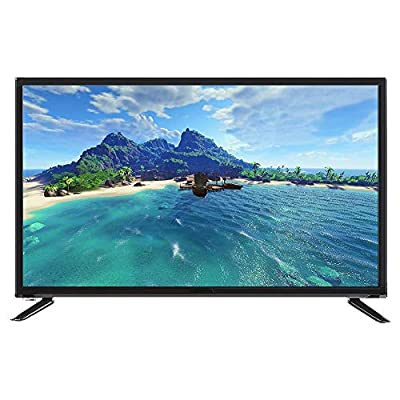 32-Inch HD HDR LCD TV, 1366768 Resolution Digital Television, WiFi/Voice Searching Function, Supports USB/HDMI/RF Antenna Input/Headphone Output(Black)