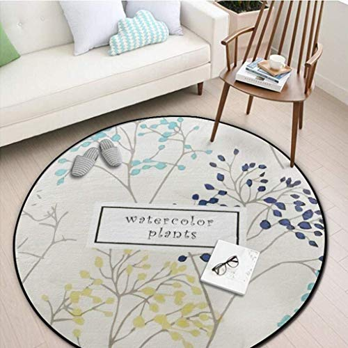 WangYi Teppich- Bereich Teppich Rund Teppich, Schlafzimmer Wohnzimmer Sofa Couchtisch Otto Erde Mat Yoga-Matte Runde Blanket Teppich (Color : #5, Size : 120 * 120CM)