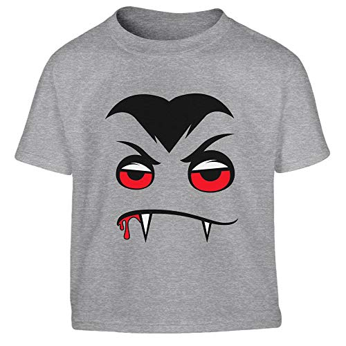 Dracula Halloween Jungen Kostüm Vampir Kleinkind Kinder T-Shirt 106/116 (5-6J) Grau