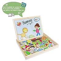 Puzzle Magnetico Legno Lavagna Magnetica Doppio Lato Puzzle di Legno Giochi Educativi per Bambini 3 4 5 Anni #5