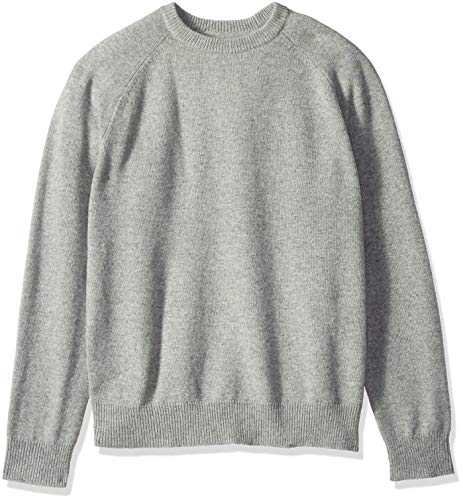 Amazon Brand - Goodthreads Men's Lambswool Stripe Crewneck Sweater, Heather Grey, Medium
