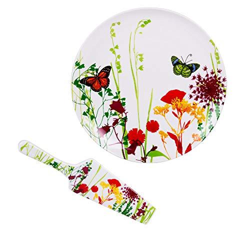 TABLE PASSION APL3044056 Plat à Tarte, Porcelaine, Multicolore, 30 X 30