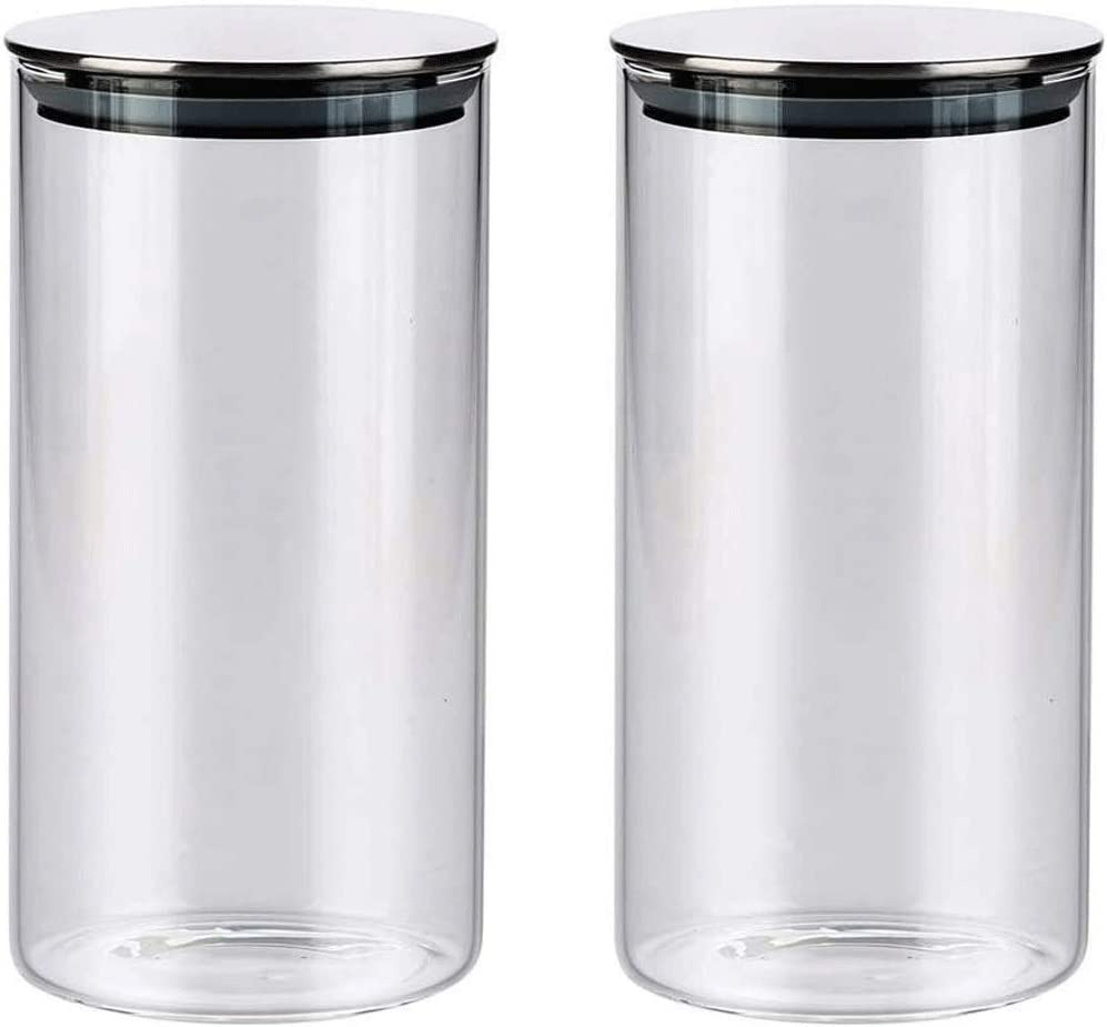 Cheap SALE Start Storage jars Selling Glass Airtight Jars Kitchen 2 Set Food of
