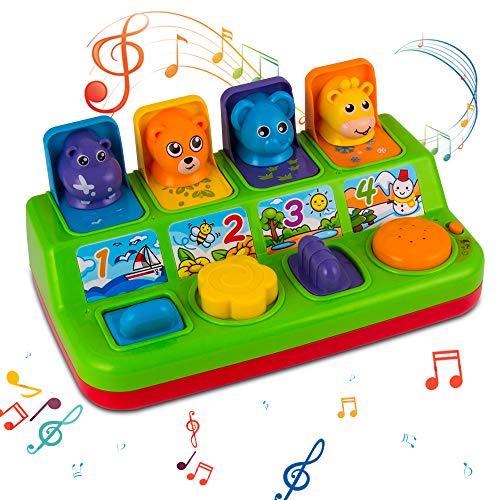 YEEBAY Interactive Pop Up Animals Toy with Music, Animal...