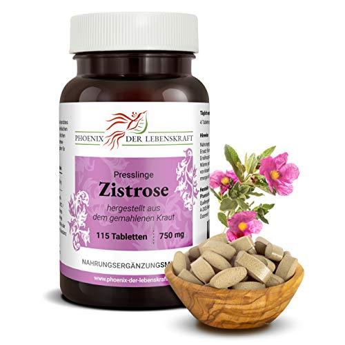 Zistrose Tabletten à 750mg (Cistus incanus, Cistrose), 115 Tabletten, Premium Qualität, Hergestellt in Österreich, Tabletten statt Kapseln, Vegan