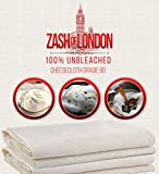 ZASH OF LONDON Muslin Cloths for Cooking, Lint Free Cloth, Cheese Cloths, 100% Unbleached Muslin Cloth, Cheesecloth for Straining Liquids, Organic Cheesecloth, Muslin Strainer (2 Yards Grade 90)