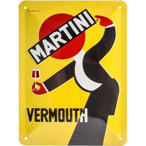 Nostalgic-Art Targhe Vintage, Martini – Vermouth Waiter – Idea regalo per amanti dei cocktail, in metallo, Design retro per decorazione, 15 x 20 cm