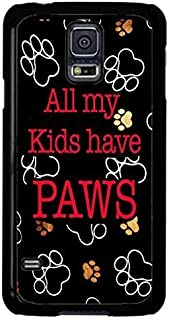 Cell World LLC - Paws Paw Print Cat Dog Cute Pet Case Cover Rubber Black Case Cover for Samsung Galaxy S10e - 5.8
