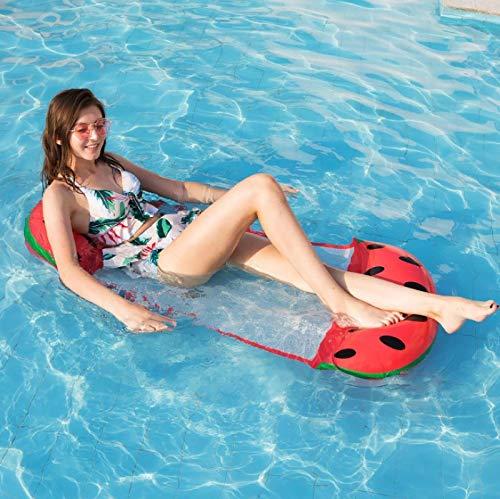 QAZW Flotador de Piscina para Adultos, Flotador de Hamaca de Agua Portátil, Cómodo Sillón Inflable, Balsa de Silla de Natación para Piscina Premium,D-126 * 73cm