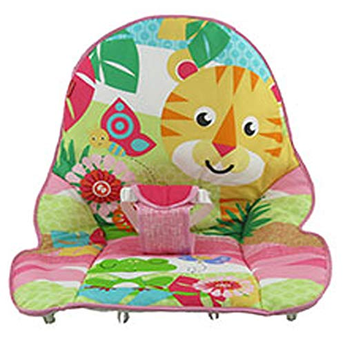 Fisher-Price Infant to Toddler Rocker DTG97 - Replacement Pad - Lion and Frog - Pink Trim