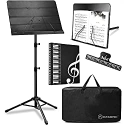 in budget affordable Kasonic 2 in 1 Folding music stand, desktop book stand, portable carrying case …
