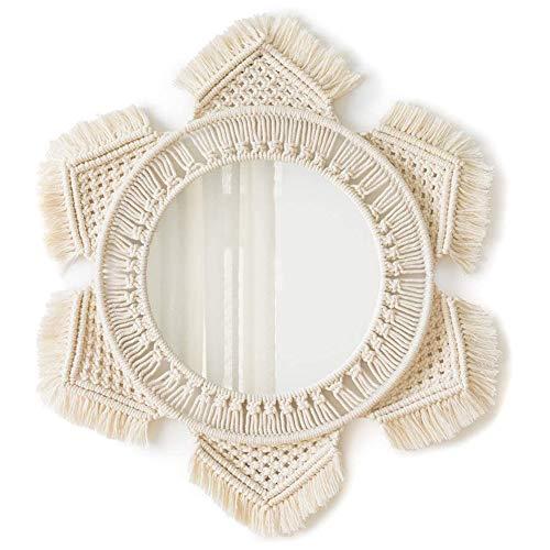 Espejos Pared Decorativos Macramé espejos pared  Marca Asudaro