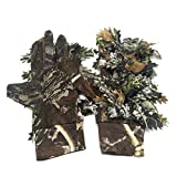 <span class='highlight'><span class='highlight'>libelyef</span></span> Outdoor Sports Hunting Fishing Gloves Anti-Slip Camouflage Glove, Outdoor Gloves With 3D Leafy Sneaky Stretch Hunting Fishing Gloves For Men here gifts