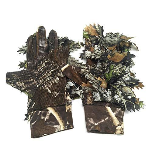 luckything Sneaky 3D Handschuhe, 3D Blättertarnanzug Woodland Camo Handschuhe, Outdoor-Handschuhe Mit Belaubten 3D Sneaky Stretch Jagd Angeln Handschuhe Für Männer