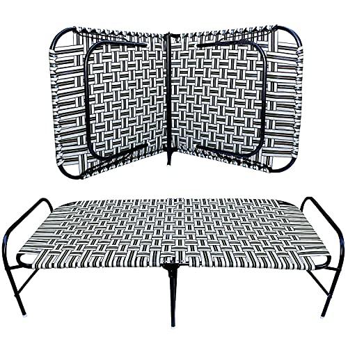 AVANI METROBUZZ Single Folding Bed Comfortable Saving Space Foldable Portable Bed Cot Size:3X6 feet
