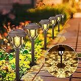 Lámpara Solar para Jardín, 10 piezas Luces Solares para Jardín, Luz Exterior Impermeable, Jardin Solares Exterior Luces de Decoración, Solar Luces para Caminos de Jardín para Céspe, Patio, Pasillo