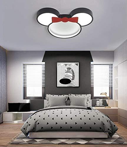 ZXM Plafonniers pour Enfants Disney Minnie Enfants Plafonnier avec Télécommande Dimmable Plafonnier Métal Acrylique Abat-Jour pour Chambre d'enfants Maternelle Filles Intérieur,60CM(36W)