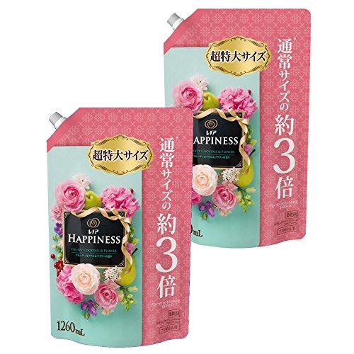 P&G レノア レノアハピネス フルーティカクテル&フラワーの香り つめかえ用 超特大 1260ml×2個