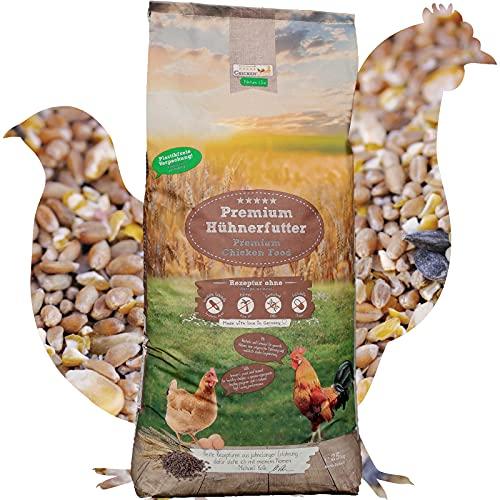 ChickenGold Hühnerfutter - 25kg, Körnermix - ohne Gentechnik - Körnerfutter - Mais, Weizen, Gerste, Muschelschrot