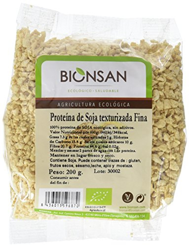 Bionsan Proteína de Soja Texturizada Fina Ecológica | 200 gr
