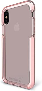 BodyGuardz - Ace Pro Case (2017) for iPhone X/Xs, Extreme Impact and Scratch Protection for iPhone X/iPhone Xs (Pink/White)