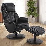 Comfort Chair Norway Manual Recliner, Black