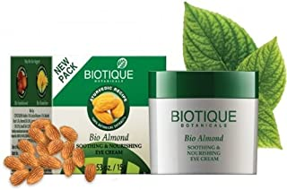 Biotique Bio Almond Soothing and Nourishing Eye Cream, 16g (Pack of 2)