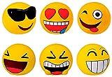 DISOK Lote de 6 Huchas Emoticonos - Huchas Divertidas Originales Emoticonos - Regalos, Regalo, Detalles de Primera Comunión, Comunión, Cumpleaños