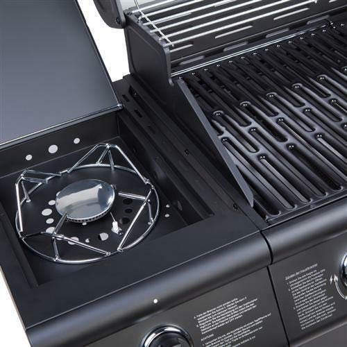 CosmoGrill Barbecue 6+1 Pro Gas Grill BBQ (Black)